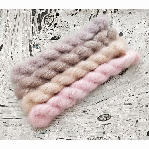 Mohair Silk Lace Mini Set Pure Morning (80g)